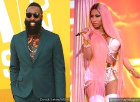james harden realizes his big crush on nicki minaj after giving her thirsty stare at nba awards