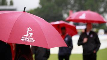 women's world cup: rain delays south africa and new zealand in derby