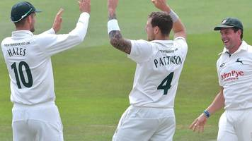 nottinghamshire v kent: hosts edge closer to victory in day-night encounter