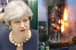 theresa may reveals 120 tower blocks have failed fire tests and urges landlords not to wait to perform safety checks