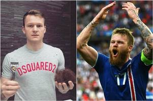 aron gunnnarsson's famous euro 2016 beard has been turned into a fishing fly