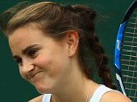 katy dunne sees wimbledon hopes ended by qualifying defeat