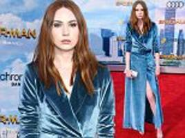 karen gillan attends spider-man: homecoming premiere
