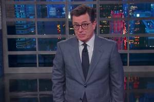 stephen colbert fact checks trump's fake news claims, trolls him over time cover (video)