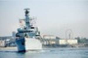 plymouth frigate  helps save lives after tanker sinks