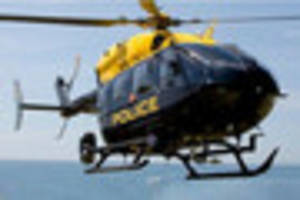 police helicopter involved in two day manhunt that lead to arrest...