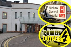 power outage at wishaw general for over seven hours