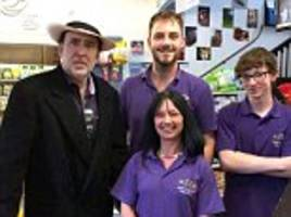 hollywood star nicolas cage surprises staff in somerset