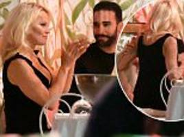 pamela anderson has dinner date with french beau adil rami