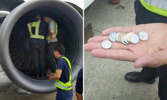 Feeling Lucky? Maybe Don't Throw Your Pennies Into An Aircraft Turbine