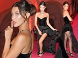 bella hadid and lily aldridge attend venice bulgari party