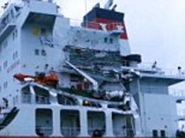 tanker collides with a cargo ship in the english channel