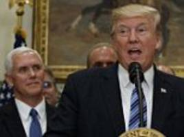 white house: claims of trump and pence staff feud is false