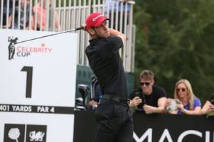 gareth bale swaps goals for golf balls at the celtic manor's celebrity cup tournament