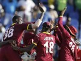 west indies secure victory in fourth odi against india