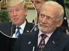 buzz aldrin gives trump baffled look after space comments