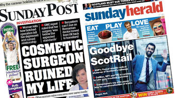 scotland's papers: shake-up for scotrail