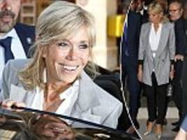 brigitte macron at dior haute couture fashion week show