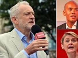 jeremy corbyn snubs yvette cooper and umunna in reshuffle