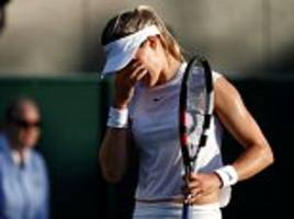 eugenie bouchard crashes out in wimbledon first round