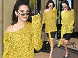 kendall jenner commands attention in jumper in paris