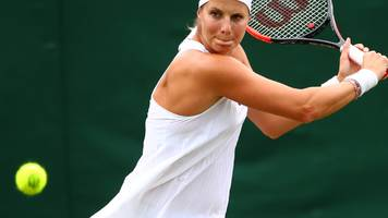 four and a half months pregnant - and playing at wimbledon