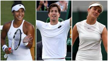 wimbledon 2017: heather watson and aljaz bedene win but laura robson is out