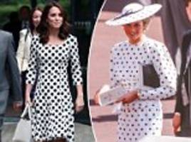 how kate middleton embraces diana's signature look