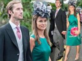 pippa middleton wears emerald green for irish wedding