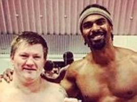 ricky hatton returns to the ring to spar with david haye