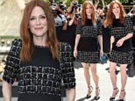 julianne moore, 56, dazzles at chanel show