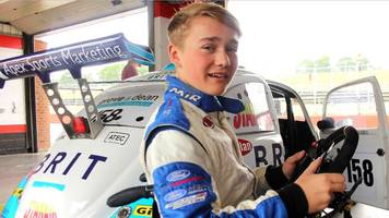 billy monger crash: amputee teen racer back behind wheel