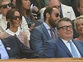 did pippa get to see any tennis? middletons at wimbledon