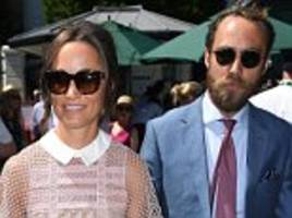 pippa middleton and brother james attend wimbledon