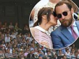 pippa and james middleton attend wilmbledon