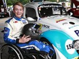 surrey racer who lost both legs back behind the wheel