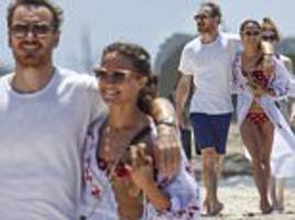 alicia vikander and michael fassbender loved-up in ibiza