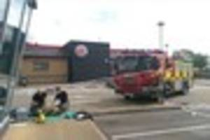 fire brigade saved nottingham burger king from going up in flames