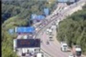 ​severe traffic delays after crash on m23 near gatwick airport