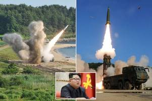 us and south korea fire missiles into sea in show of strength amid north korean new threat to bomb america