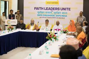 religious leaders come together with nobel laureate kailash satyarthi for surakshit bachpan surakshit bharat (safe childhood, safe india) to fight violence against children