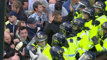 dinner lady suspended for 'tommy robinson' demo