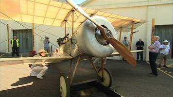 bristol scout returns to uk's first hangars after a century