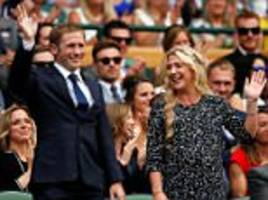 olympic and paralympic champions in wimbledon royal box