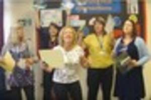 watch staff at harlow school mark hall academy dance to justin...