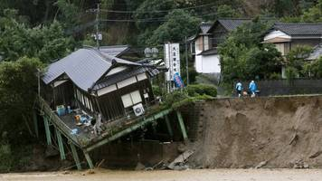 japan floods: deaths after kyushu rain rise to 15