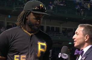 josh bell dominates jake arrieta on anniversary of mlb debut