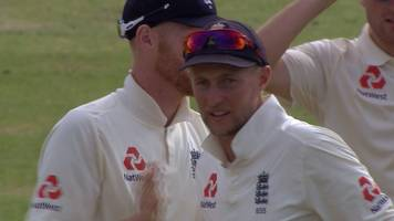 england v south africa: liam dawson takes morne morke wicket to win first test