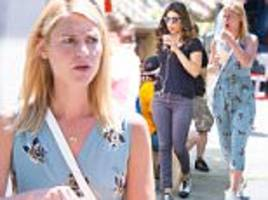 claire danes and priyanka chopra dress casual in nyc