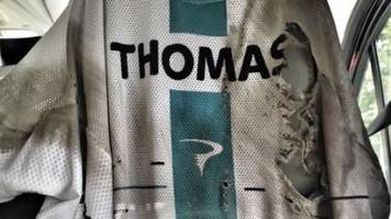 jersey for sale, slight signs of use - thomas after tour crash